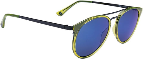 SPY Refresh Sunglass Toddy - Green Apple Black - Grey W/ Light Blue Flash Mirror