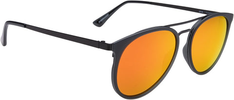 SPY Refresh Sunglass Toddy - Matte Trans Grey Matte Black - Bronze W/ Red Orange Mirror
