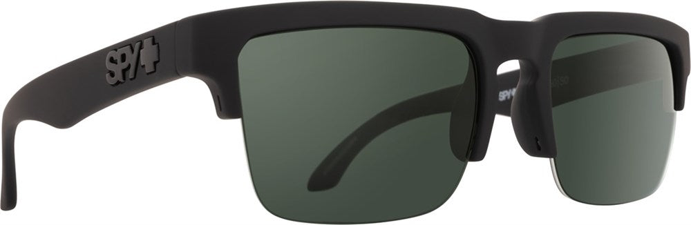 SPY Sunglass Helm 5050 - Soft Matte Black - HD Plus Grey Green Polar