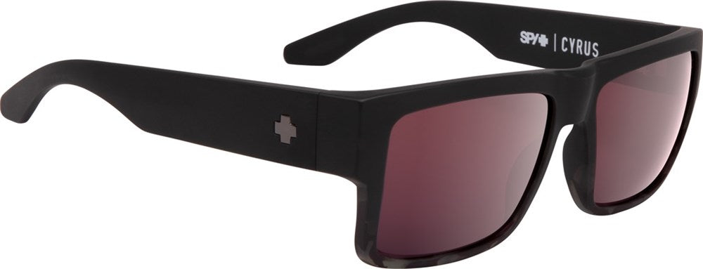 SPY Sunglass Cyrus - Matte Black/Smoke Tort fade - Happy Rose W/ Silver Spectr