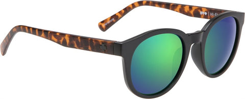 SPY Refresh Sunglass HiFi - Matte Black/Matte Blonde Tort - Grey w/ Green Spectra