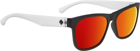 SPY Refresh Sunglass Sundowner - Matte Black/Matte Crystal - Grey W/Red Spectra