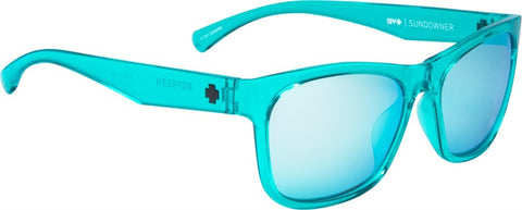 SPY Refresh Sunglass Sundowner - Emerald - Grey W/ Turquoise Mirror