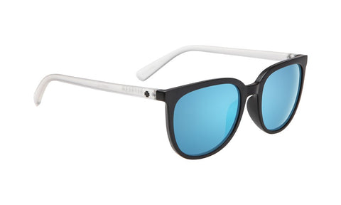 SPY Refresh Sunglass Fizz - Matte Black/Matte Crystal - Grey W/ Light Blue Spectra