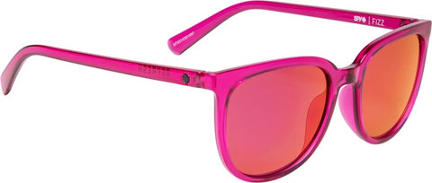 SPY Refresh Sunglass Fizz - Ruby - Grey W/ Ruby Red Mirror