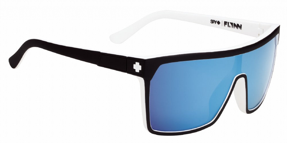 SPY Sunglass Flynn - Whitewall - Happy Grey Green w/Light Blue Spectra