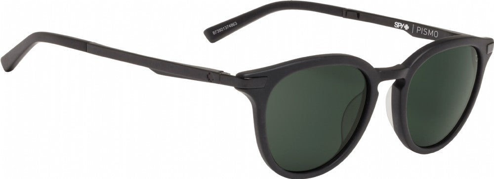 SPY Sunglass Pismo - Matte Black - Happy Grey Green