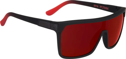 SPY Sunglass Flynn - Soft Matte Black/Red Fade