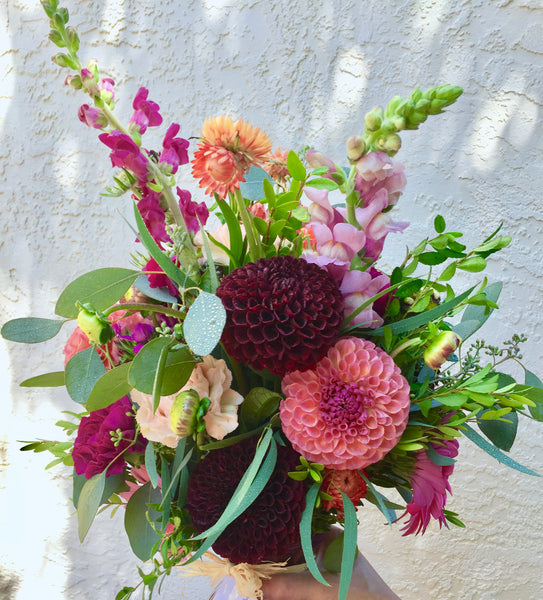 Artisan designed bouquet with seasonal flowers
