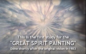 The great spirit appeared to me in an awesome vision.