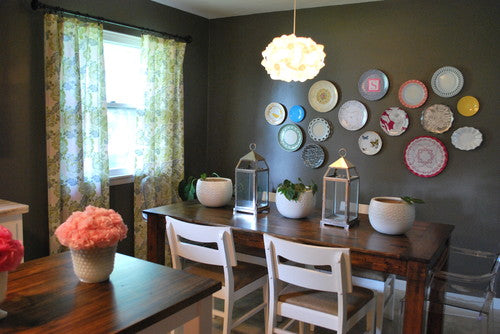 Japanese plates are just the ticket for gallery walls!