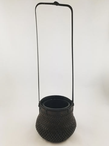 BAMBOO STRING BASKET WITH A HANDLE
