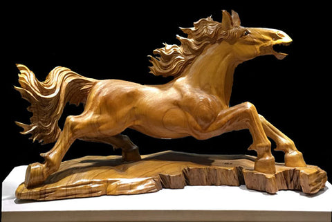 Wooden horse ornament