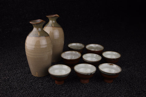 SAKE BOTTLE SAKE CUP SET - TLS Living