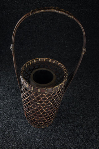 BAMBOO STRING BASKET WITH A HANDLE - TLS Living