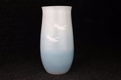 FLYING BIRD FIGURE FLOWER VASE