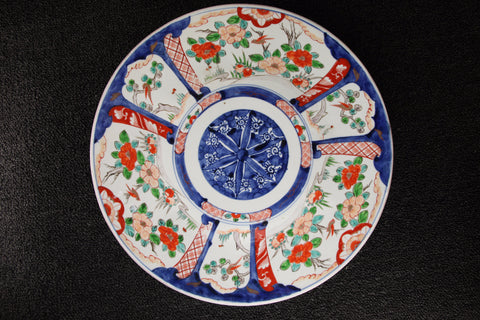 IMARI PAINTED CAMELLIA PATTERN LARGE PLATE
