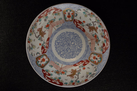 ANTIQUE IMARI PAINTED LARGE PLATE - TLS Living