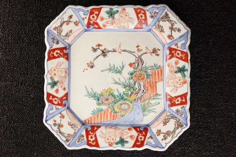 IMARI PAINTED CORNER CUT PLATE - TLS Living