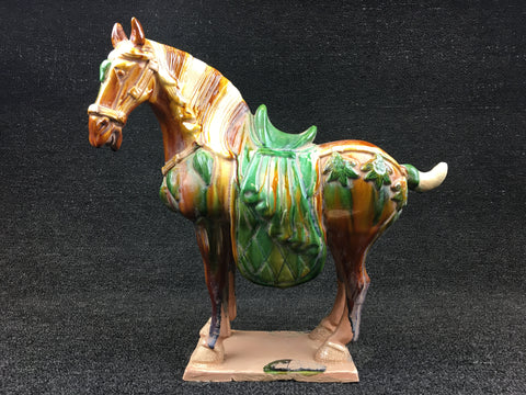 ANTIQUE FINISH SANCAI HORSE - TLS Living