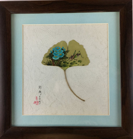 LEAF PAINTING FRAMED