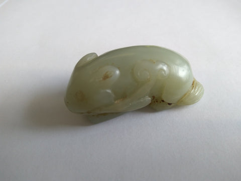 Rare Jade Squirrel from Early 20th Century - TLS Living