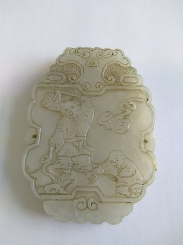 Finely Carved Jade pendant from the Qing Dynasty - TLS Living