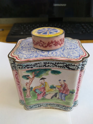 Enamel Painted Tea Caddy from the Qing Dynasty - TLS Living