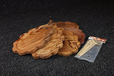 WOODEN LEAF SHAPE DISH SET