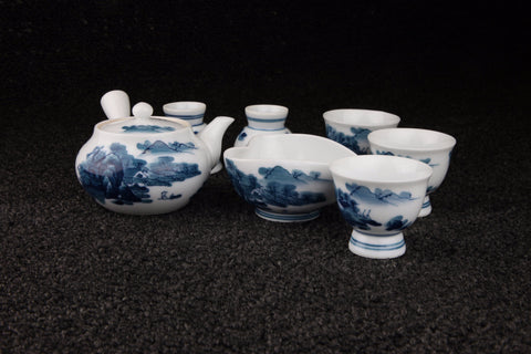 LANDSCAPE PATTERN INFUSING TEA BOWLS SET - TLS Living