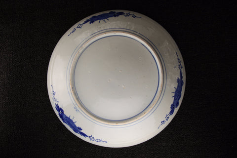 IMARI BLUE AND WHITE PORCELAIN LARGE PLATE