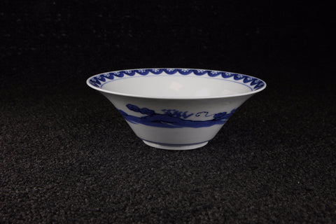 BLUE AND WHITE PORCELAIN LOTUS FLOWER PATTERN DISH - TLS Living