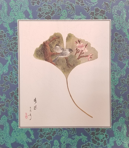 LEAF PAINTING BY MING KONG