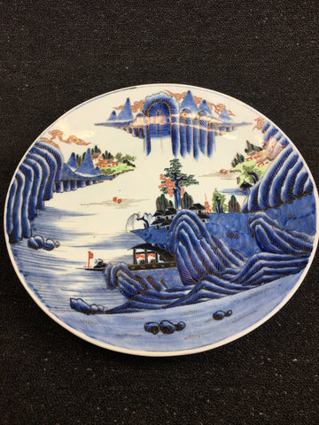 IMARI PAINTED TOWER LANDSCAPE PATTERN LARGE PLATE - TLS Living