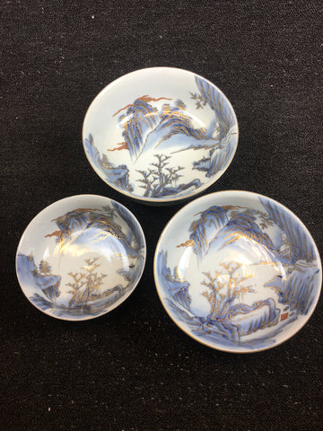 IMARI SOMENISHIKI BOWLS 3-PIECE - TLS Living