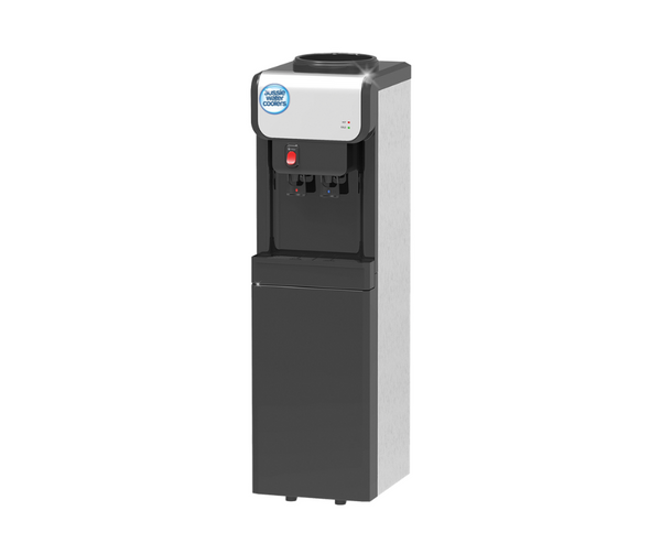 Eclipse Black & Silver Hot & Cold Floor Standing Water Dispenser