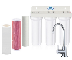Triple Under Sink Filtration - Sediment, Aragon & Fluoride Filters