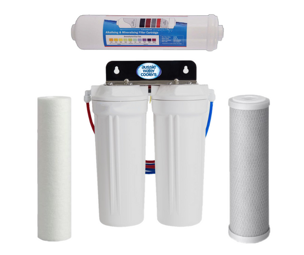 Triple Under Sink Filtration - Sediment, Carbon & Alkahydrate Filters