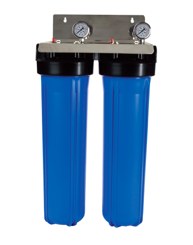 "Whole of House Filtration System - 20"" Twin Filtration Town Water System"