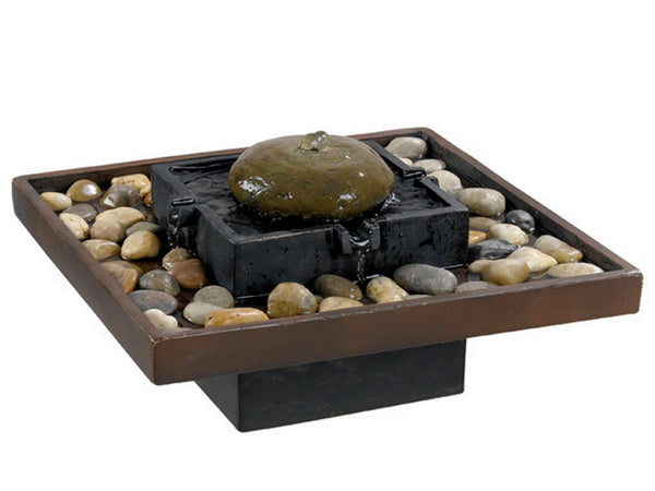Bliss Bronze Indoor Water Table Top Fountain