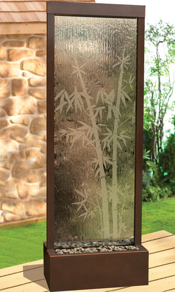 Bluworld 8' Gardenfall Indoor Outdoor Water Fountain - Dark Copper&Etched Glass