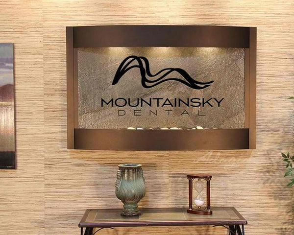 Calming Waters Wall Fountain with Logo