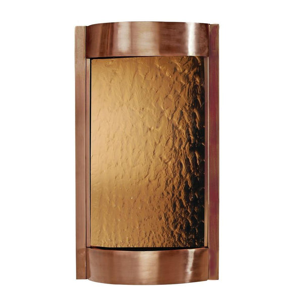 Contempo Solare Bronze Mirror and Dark Copper Wall Fountain