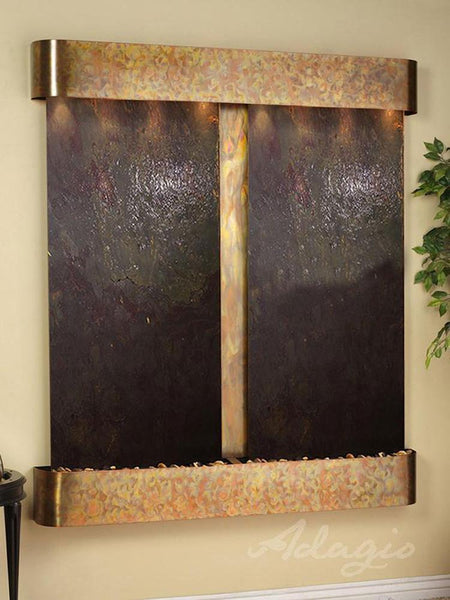 Cottonwood Falls with Rustic Copper Trim and Rajah Featherstone