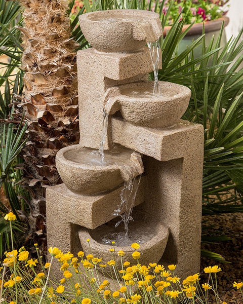 Flowing Bowl Garden Water Fountain