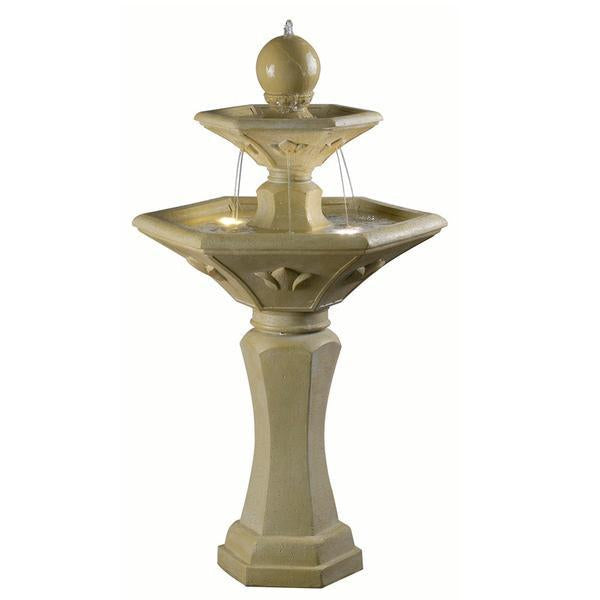 Kenroy Provence Outdoor Solar Fountain