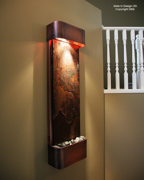 Serendipity Falls Copper Wall Fountain