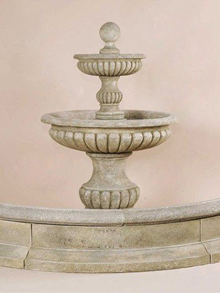 Acqua Sparta Two Tier Outdoor Water Fountain For Pond - Soothing Walls