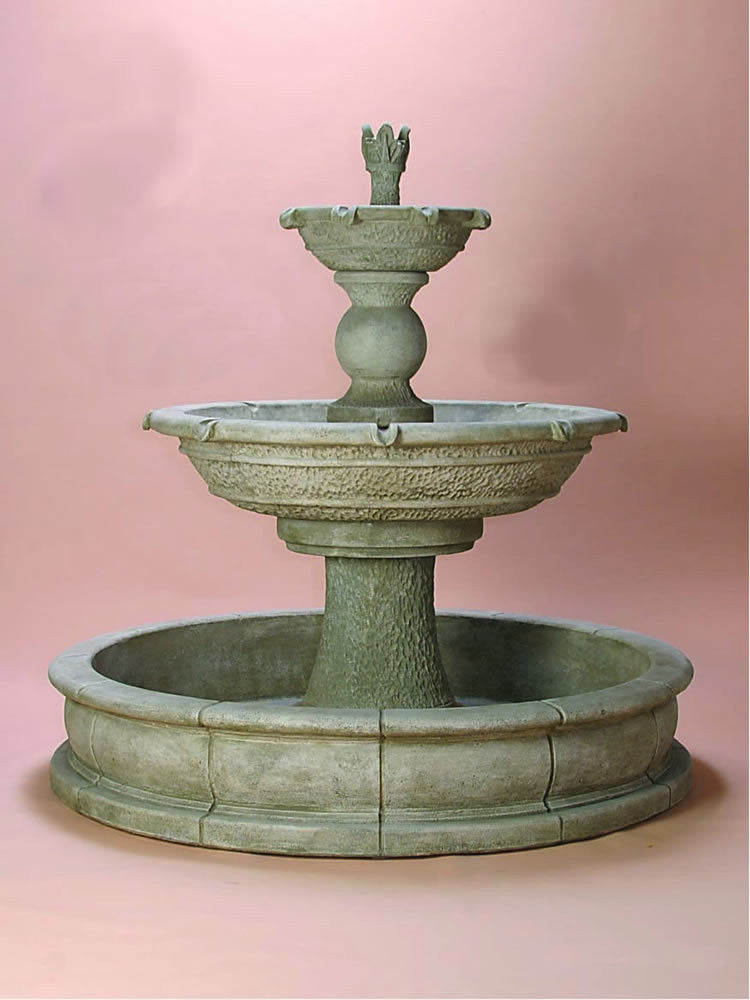 Antiquarium Two Tier Pond Outdoor Water Fountain - Soothing Walls