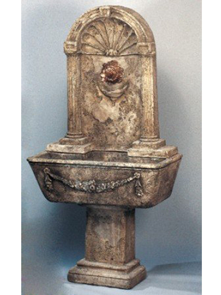 Foritalico Outdoor Water Fountain for Bronze Spout - Soothing Walls